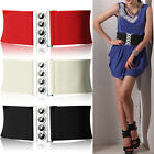 Women Lady Fashion Cinch 3 Inch Wide Waist Elasticated Buckle Belt Elastic S/M/L
