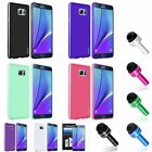 Pudding Soft TPU Gel Case Cover+LCD Film+Stylus Pen For Samsung Galaxy Note 5