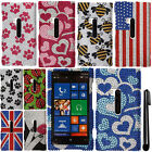 For Nokia Lumia 920 GEM DIAMOND BLING CRYSTAL HARD Case Phone Cover + Pen
