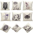 Vintage Style Cotton Linen Pillow Case Throw Sofa Waist Cushion Cover Home Decor