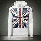 Men's Cotton Plus thick velvet Union Jack Printed Sweater Hooded Sweater M-5XL