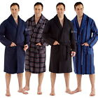 Mens Polar Fleece Supersoft Dressing Gown M L XL 2XL Check Stripe Plain Robe