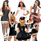 Sexy Hen Party Police Costume Uniform Gangster Nurse Maid Fancy Dress Costume