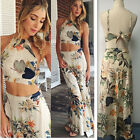 Women Summer Two-Piece Top+Skirt Boho Sexy Ladies Long Maxi Dress Printing
