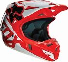 2016 Fox Racing V1 Race MX Motocross Dirtbike ATV Helmet Youth S-L RED 15226-003
