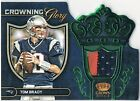 TOM BRADY 2012 Crown Royale Crowning Glory Emerald Prime 43/49 Materials JSY