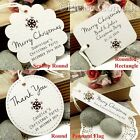 Personalised White Christmas Gift Tags with Snowflakes Laser Cutout