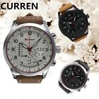 CURREN Waterproof Men's Stainless Steel Faux Leather Quartz Analog Wrist Watch