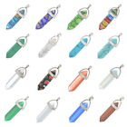 1PC Cut Point Gemstone Pendants Reiki Heal Natural Chakra for Necklace