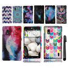 For LG Optimus G E970 Snap On PATTERN HARD Protector Case Phone Cover + Pen