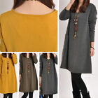 New Lady Womens dresses Winter Casual Loose Long Sleeve Knitting Dress Beauty