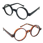 Thickly Rimmed Round Oval Reading Glasses Readers Black or Tortoise 9 Power RE62