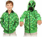 Official Licensed Minecraft Creeper Hoodie Hoddy Sweater Boy's 7-8 10-11