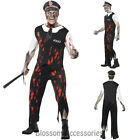 CL555 Zombie Police Man Officer Cop Halloween Outfit Scary Undead Uniform Horror