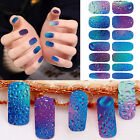 14pcs Nail Art Water Transfer Decal Sticker bright Color Sheet for nail design E