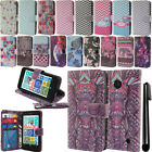 For Nokia Lumia 630 635 Flip Wallet LEATHER Skin POUCH Case Phone Cover + Pen