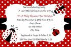 Personalized Ladybug Birthday Party / Baby Shower Invitations  3 Styles
