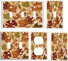 FALL LEAVES # 10 LIGHT SWITCH COVER PLATE    U PICK  SIZE AND STYLE