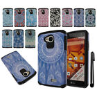 For LG Tribute LS660 Anti Shock TPU HYBRID HARD Back Silicone Case Cover + Pen