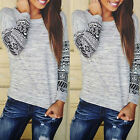Women Ladies Casual Long Sleeve Crewneck Loose Blouse Sexy T Shirt Tops Jumper