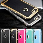 Fashion Silicone/Rubber Hybrid Shockproof Armor Hard Case For iPhone 6 6S Plus