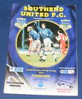 SOUTHEND UNITED HOME PROGRAMMES 1998-1999