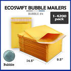 "1-4200 #4 9.5x14.5 ""EcoSwift"" Kraft Bubble Mailer Padded Envelope Bag 9.5 x 14.5"