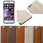Natural Wood Wooden Shockproof Case Cover Protect Pattern For Apple iPhone 6s