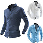 New Mens Long Sleeve Luxury Small Dot Casual Slim Stylish Dress Shirts 3 Color