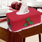 Stylish Christmas Applique Rectangle Tissue Box Cover Paper Holder Home Decor