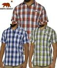 NEW MEN'S DAKOTA GRIZZLY BUTTON FRONT SHORT SLEEVE PLAID SHIRT! VARIETY!