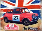 New Taking 1st Place Mini Cooper S Metal Tin Sign