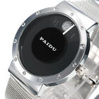 New Men's Fashion Double Circle Luxury Stainless Steel Analog Quartz Wrist Watch