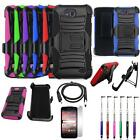 Phone Case For ZTE Scend LTE Z791g Holster Cover Stand USB Charger Film Stylus