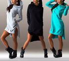 Women Winter Dress Long Sleeve Tops Ladies Hoodie Jumper Pockets Sports Sweater