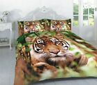 Tiger Photographic Animals Quilt Duvet Cover & Pillowcase Bedding Sets 4 Sizes