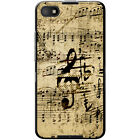 Vintage Grunge Music Notes Hard Case For Blackberry Z30