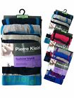 3 Mens Pierre Klein Boxer Shorts Hipster Trunks Underwear / Fashion Stripes