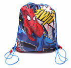 K115 BOYS DISNEY MARVEL SPIDERMAN ENVIROMENTAL DRAWSTRING BAG SWIM BEACH PE BAG