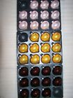 11 Premier 80mm Glass Pearlised Onion baubles Gold Light Dusky Pink Chocolate Br
