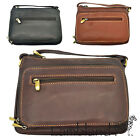 Nova Leather Ladies / Womens Small Shoulder Bag with Front Organiser Section