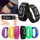 Fashion Waterproof Womens Mens Digital LED Sports Silicone Bracelet Wrist Watch