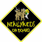 NEW * NEWLYWEDS* Ideal Novelty Wedding Gift * Baby on Board Car Window Sign