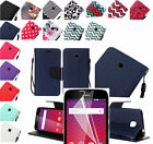 LCD Film+PU Leather Wallet Pouch Case Cover w/Strap For Huawei Union Y538 Phone