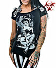 TOO FAST TATTOO GOTH ZOMBIE BURLESQUE PIN UP GOTHIC PUNK ANNABEL PIN UP SHIRT