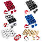 UNIVERSAL 17MM 19MM WHEEL NUTS BOLTS CAPS COVERS PROTECTORS 20PCS REMOVE TOOL