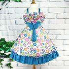 NEW Flower Girl Wedding Pageant Princess Party Fancy Wear Dress Blue SZ 4-9 Q856