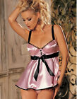 Sexy Plus Size White Pink Satin Bra Padded Chemise Sexy Lingerie Underwear