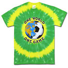 Soccer Brazil World Cup One World Soccer T-Shirt Jersey Tie Dye Short Sleeve