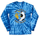 Soccer Italy World Cup One World T-Shirt Jersey Tie Dye Long or Short Sleeve